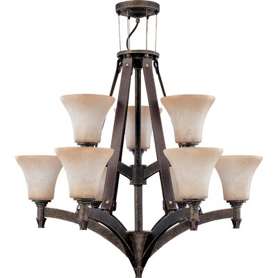 Viceroy 9-Light Shaded Chandelier Energy Star: No