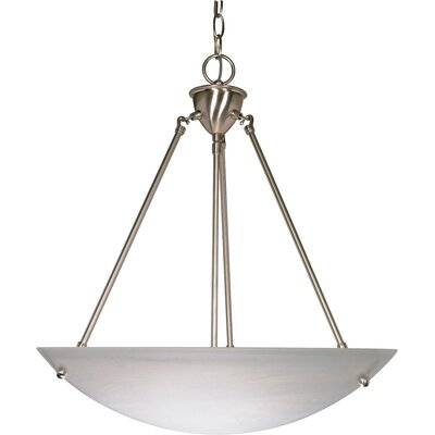 3-Light Bowl Inverted Pendant Finish: Brushed Nickel