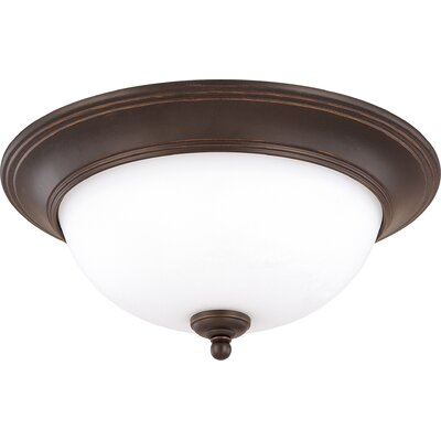 Glenwood Flush Mount Size / Energy Star: 6.75 H x 16 W / Yes