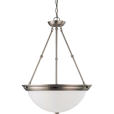 Caffey 3-Light Inverted Pendant Size / Energy Star: 27.75 H x 20 W / Yes, Finish: Brushed Nickel