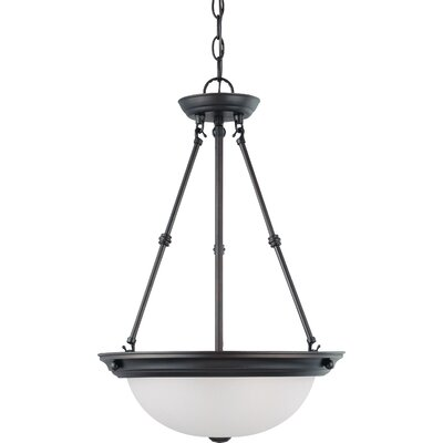 Robert 3-Light Inverted Pendant Size / Energy Star: 23 H x 15 W / No, Finish: Mahogany Bronze