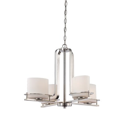Daryl 4-Light Shaded Chandelier Color: Polished Nickel