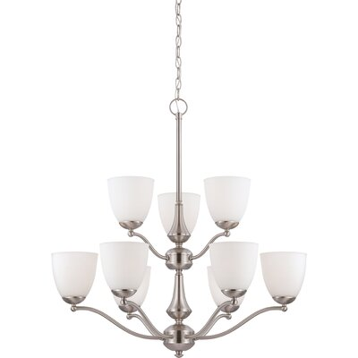 Tecca 9-Light Shaded Chandelier Bulb Type: A19, Finish: Prairie Bronze