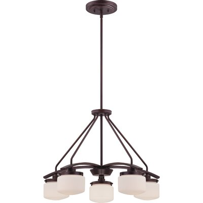 Austin 5-Light Shaded Chandelier Finish: Russet Bronze