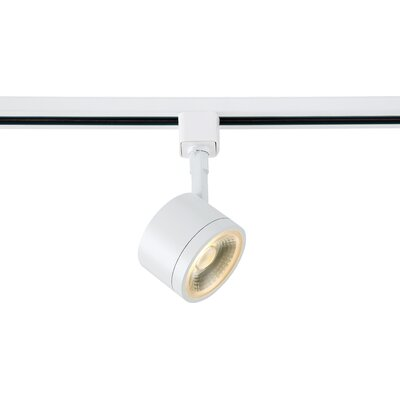 1-Light LED Round Track Head Finish: White