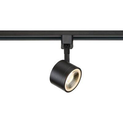 1-Light LED Round Track Head Finish: Black