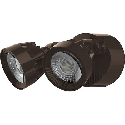 Dual Head 1-Light LED Security Light Finish: Bronze