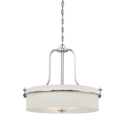 Daryl 3-Light Pendant Color: Polished Nickel