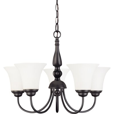 Dupont 5-Light Shaded Chandelier Energy Star: Yes, Finish: Dark Chocolate Bronze