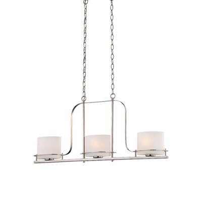 Daryl 3-Light Kitchen Island Pendant Color: Polished Nickel