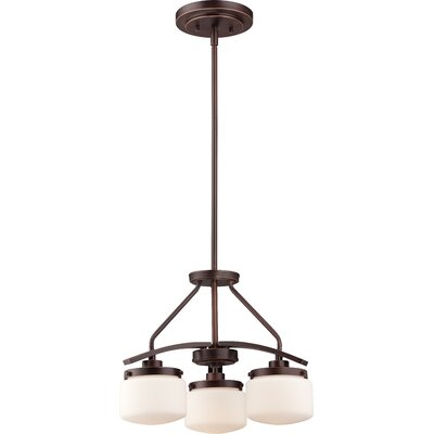 Austin 3-Light Shaded Chandelier Finish: Russet Bronze