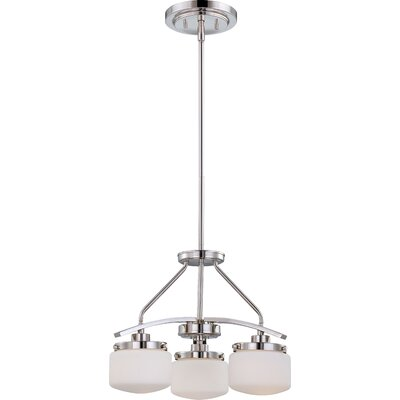 Austin 3-Light Shaded Chandelier Finish: Polished Nickel