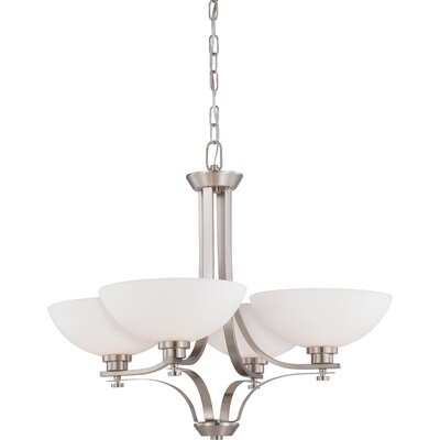 Bentley 4-Light Shaded Chandelier Finish: Brushed Nickel