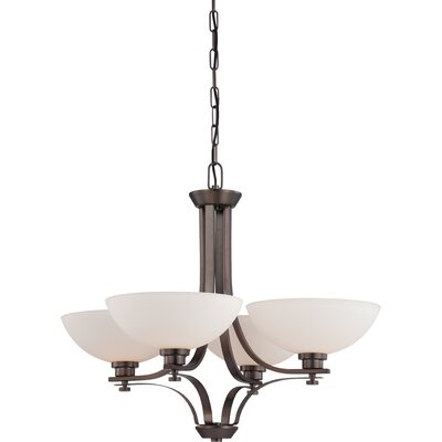 OShaughnessy 4-Light Shaded Chandelier Finish: Hazel Bronze