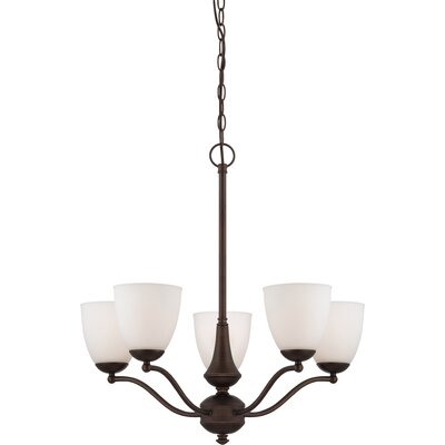 Tecca 5-Light Shaded Chandelier Finish: Prairie Bronze, Bulb Type: T2 Mini Spiral