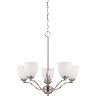 Rockford 5-Light Shaded Chandelier Finish: Brushed Nickel, Bulb Type: A19