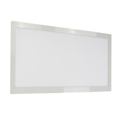 LED Semi Flush Mount Size: 0.75 H x 12 W x 24 D