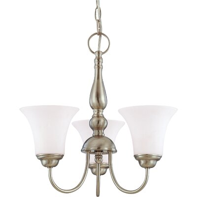 Yale 3-Light Shaded Chandelier Energy Star: No