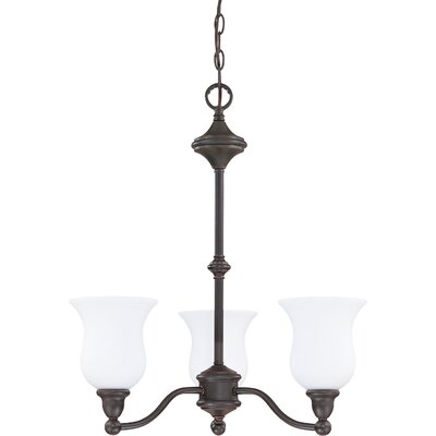 Glenwood 3-Light Shaded Chandelier Energy Star: Yes, Finish: Brushed Nickel