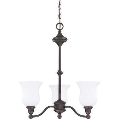 Glenwood 3-Light Shaded Chandelier Energy Star: Yes, Finish: Sudbury Bronze