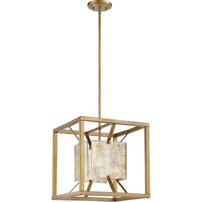 Highlawn 1-Light Design Pendant Size: 52.88 H x 15 W x 15 D