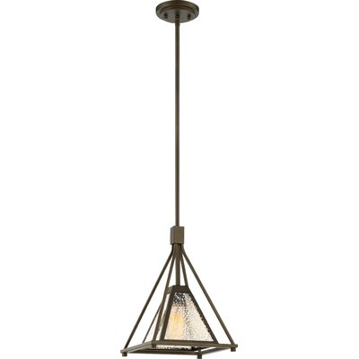 Johnie 1-Light Design Pendant Size: 52.5 H x 10 W x 10 D