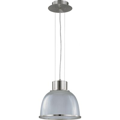 Ruddy 1-Light Inverted Pendant Size: 10.625 H x 12.375 W, Finish: Brushed Nickel