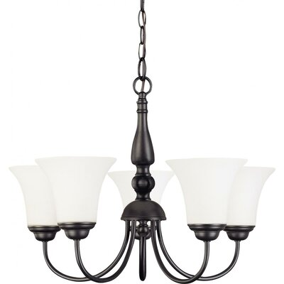 Yale 5-Light Shaded Chandelier Energy Star: No, Finish: Dark Chocolate Bronze
