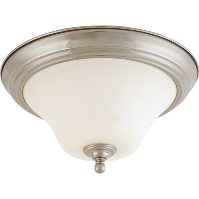 Yale 2-Light Flush Mount Size / Energy Star: 13 W x 7 H / Yes