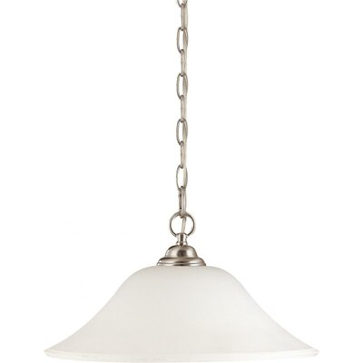 Yale 1-Light Metal Pendant Bulb Type: Fluorescent
