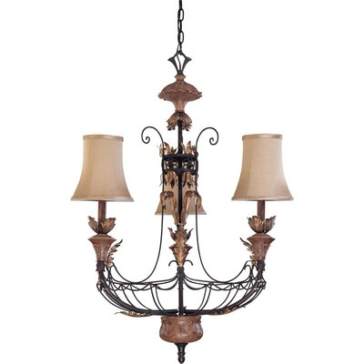 Verdone 3-Light Shaded Chandelier
