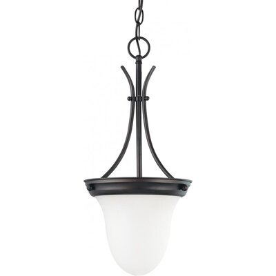 Chisolm Pendant with Alabaster Bell Glass Energy Star: Yes, Finish: Mahogany Bronze with Alabaster shade