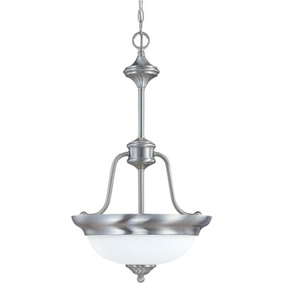 Glenwood 2-Light Large Inverted Pendant Energy Star: Yes, Finish: Brushed Nickel