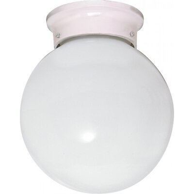 Chapin 1-Light Glass Shade Flush Mount