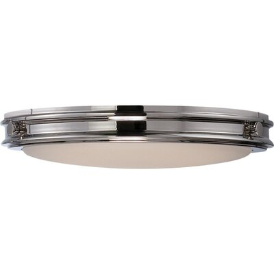Houston 1-Light Flush Mount Finish: Polished Nickel