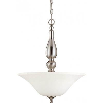 Yale 3-Light Metal Inverted Pendant Energy Star: No