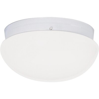 Chacon 2-Light Glass Shade Flush Mount Finish: White