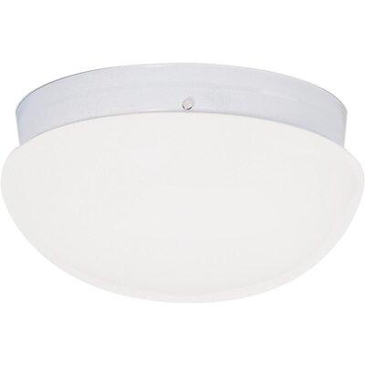 Chacon 2-Light Glass Shade Flush Mount Finish: White