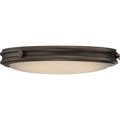 Houston 1-Light Flush Mount Finish: Rustic Brass