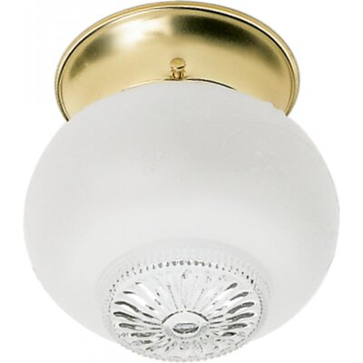 Ovid Traditional 1-Light Semi Flush Mount