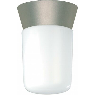 Olmos 1-Light Flush Mount Finish: Satin Aluminum