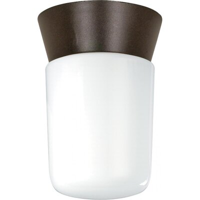 Olmos 1-Light Flush Mount Finish: Bronzotic