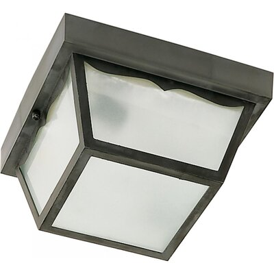 Pothier 1-Light Flush Mount Finish: Black, Size: 4.75 H x 8.25 W x 8.5 D
