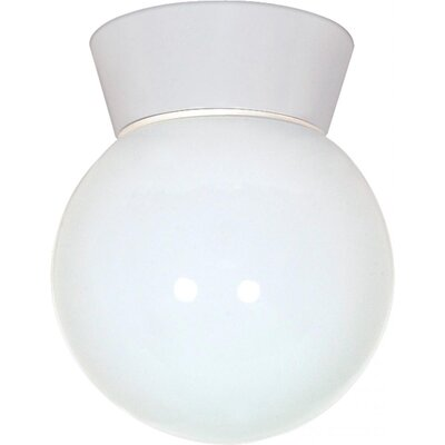 Chapin Traditional 1-Light Flush Mount Finish: White