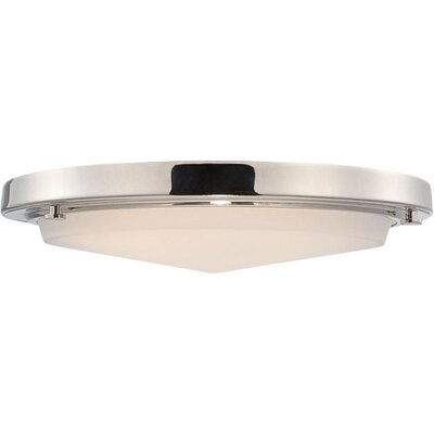 Sawyer 1-Light Flush Mount Finish: Polished Nickel