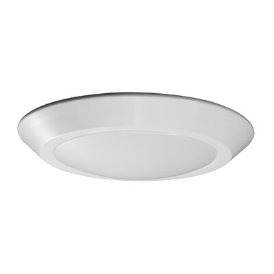 1-Light LED Flush Mount Fixture Finish: White, Size: 1.19 H x 7.09 W x 7.09 D