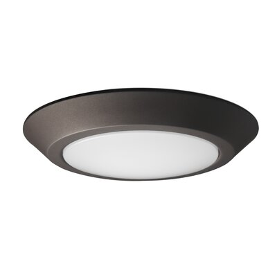 1-Light LED Flush Mount Fixture Finish: Mahogany Bronze, Size: 1.41 H x 9.84 W x 9.84 D