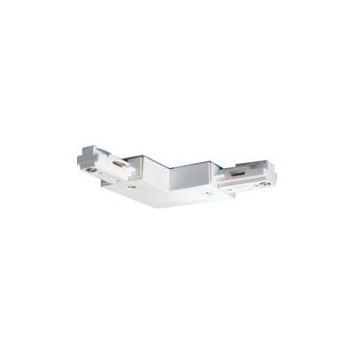 L Track Light Connector in White