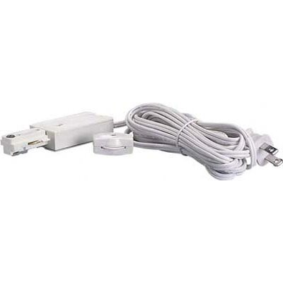 Track Light Live End Cord Kit in White