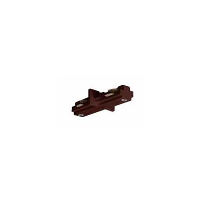 Track Light Mini Straight Connector in Brown